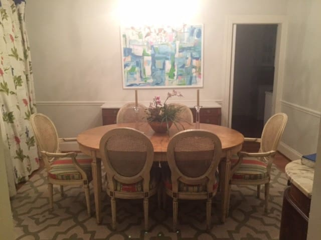 large dining room seating for six