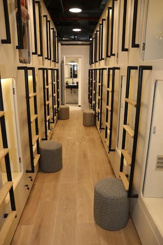 Charming capsule in new hotel