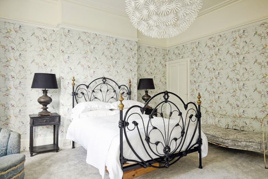 This stunning room has large fitted wardrobes and ensuite access to the marble bathroom and access to the adjacent children's bedroom, if required