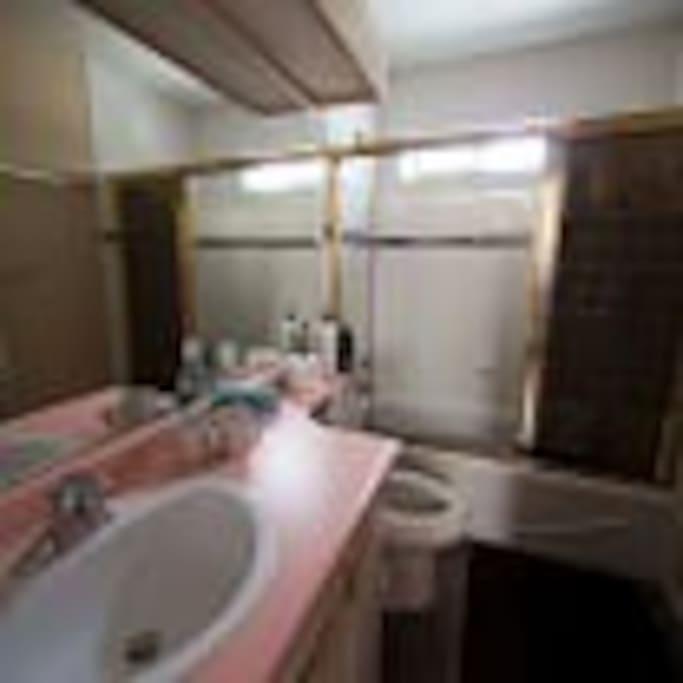 Bath room with a tub