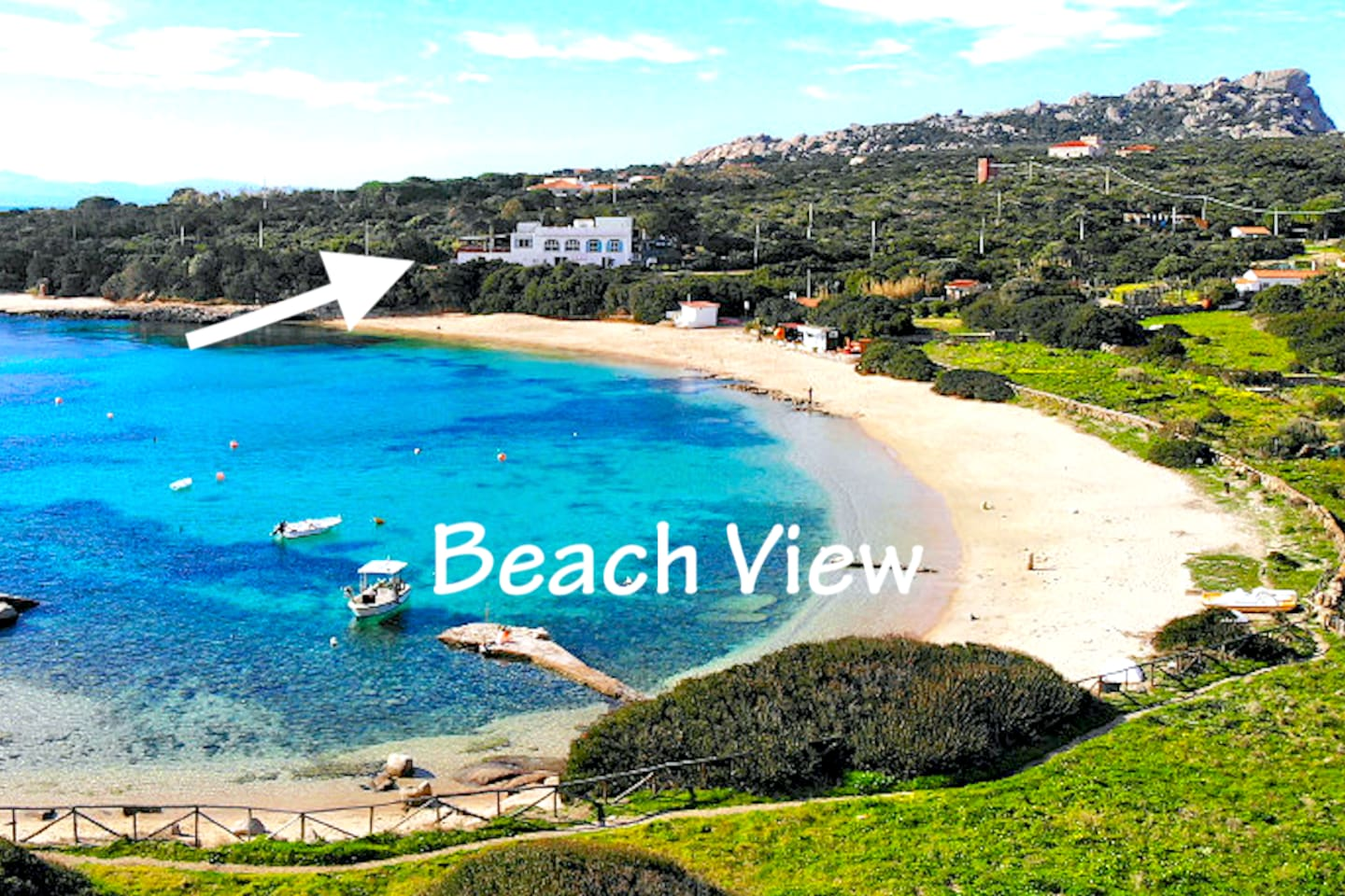 The apartment is located in front of the one of the  most beautifull beaches of Sardinia