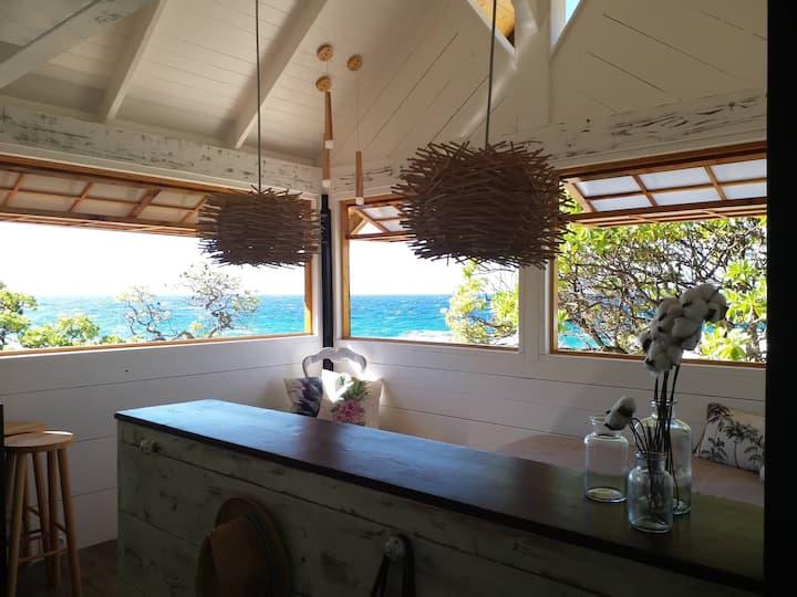 La cabane - face à l'océan pacifique