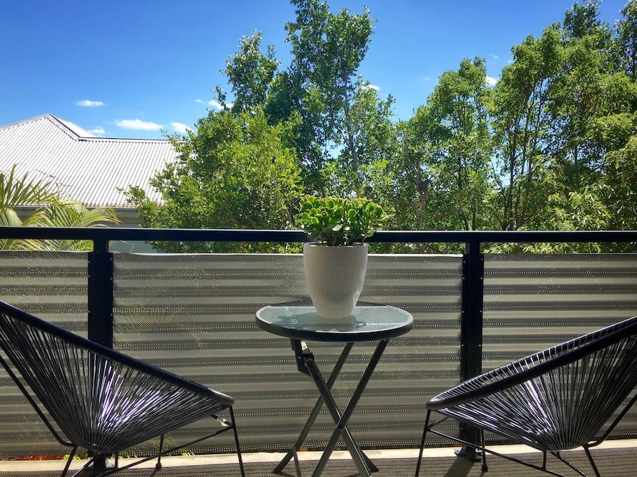 Your private balcony to relax, read or enjoy a coffee