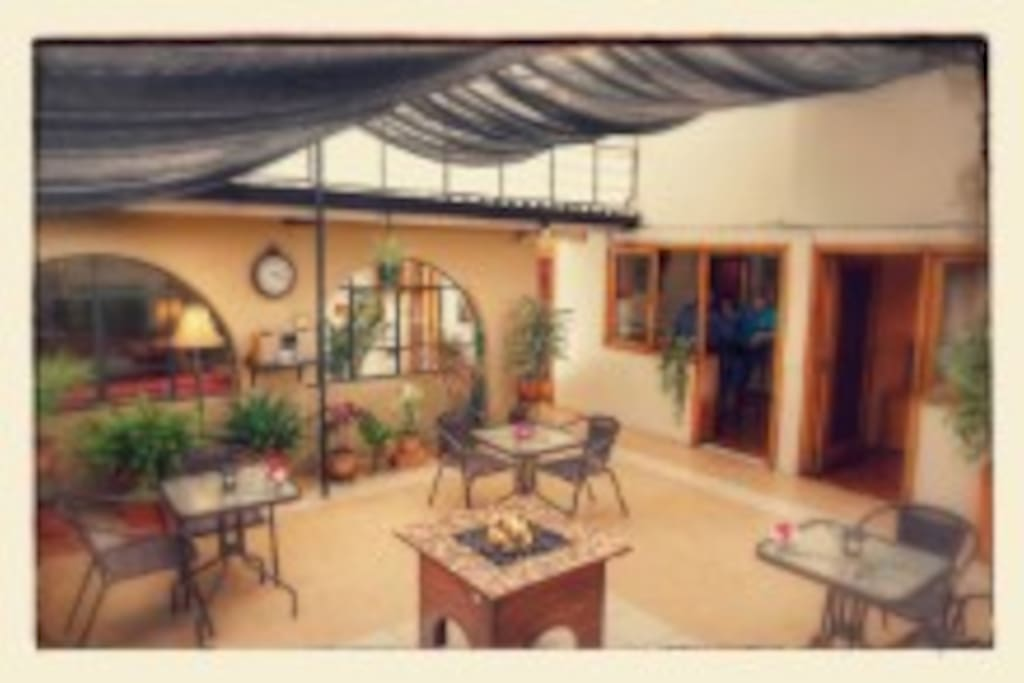 Our courtyard is the best place for you to unwind after a long day exploring Cuenca