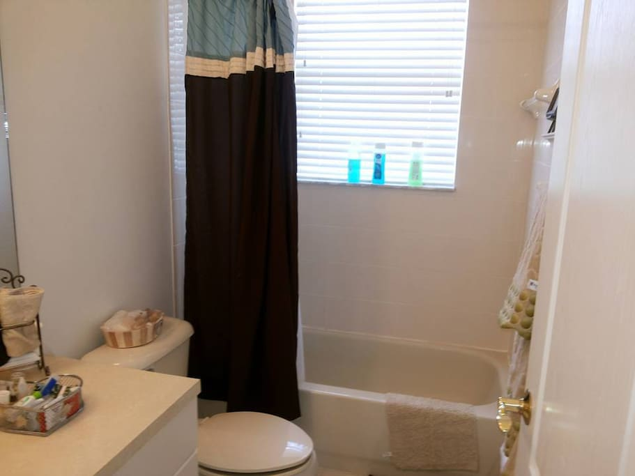 Bathroom shared by second and third bedroom.