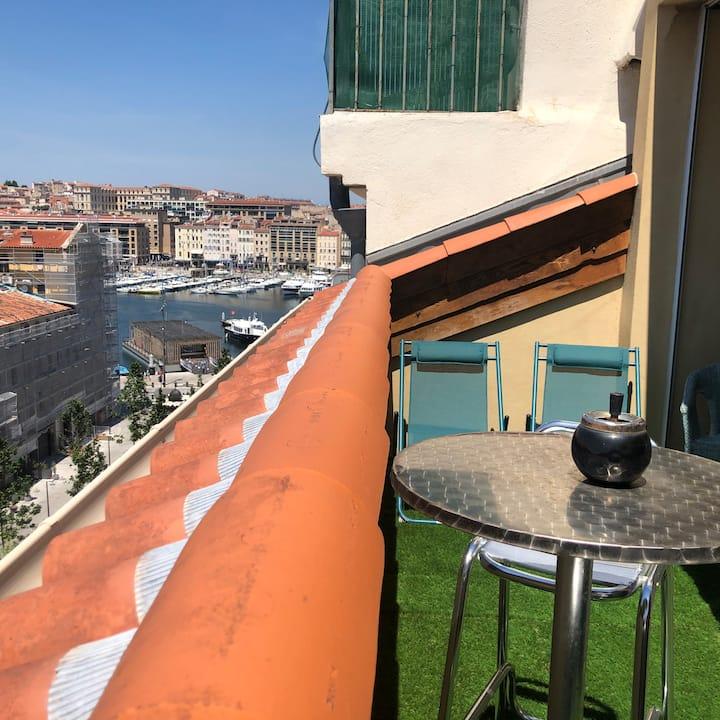 Loft du Vieux Port Terrasse Rooftop et parking