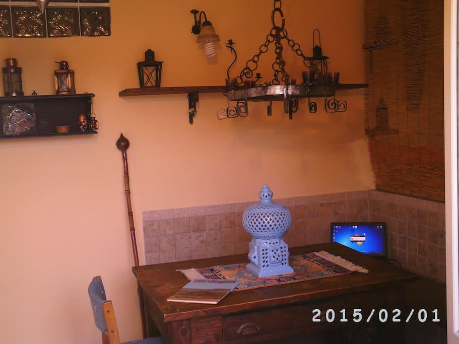 soggiorno e sala da pranzo