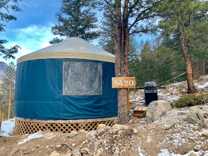 """High"" in The Mountains Yurt"