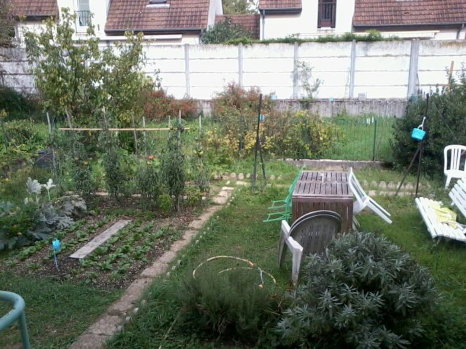 Jardin avec potager