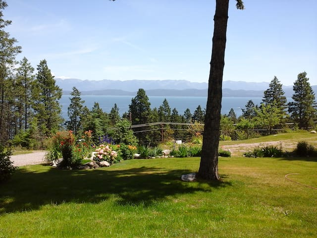 Mountain Lake Vista duplex near Flathead Lake