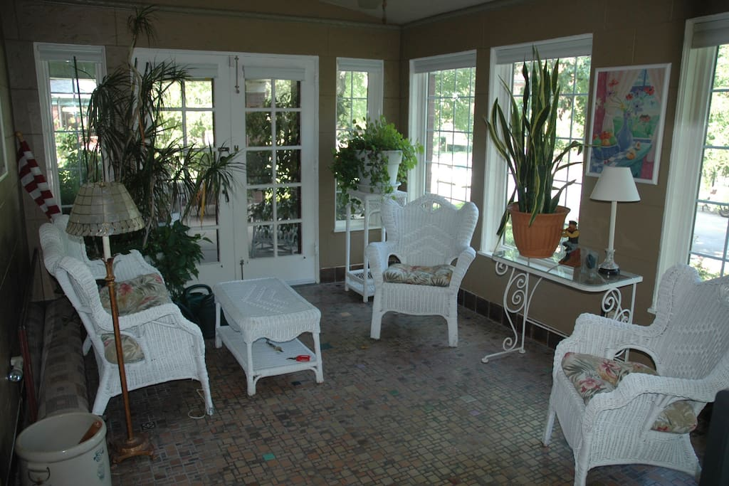 East sunroom. A great place for morning coffee.