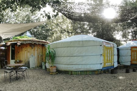 Yourtes Gascogne-sustainable country rental for 4p - lannes - Jurta
