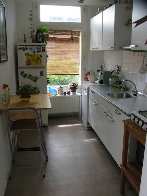 fully equipped kitchen with a dishwasher and an oven