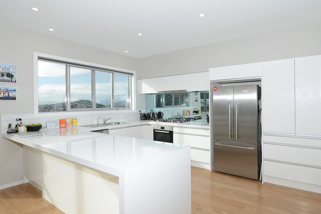 The kitchen is our favourite room in the house and has everything you'll need for your stay
