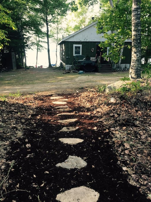 Path from the back cove to the cabin