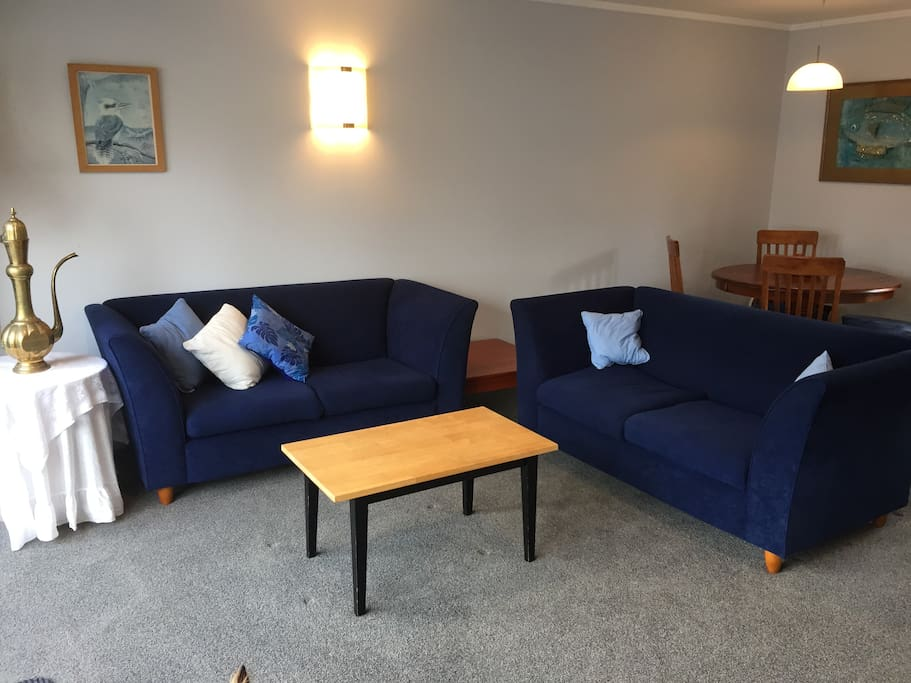 Comfortable couches in the lounge