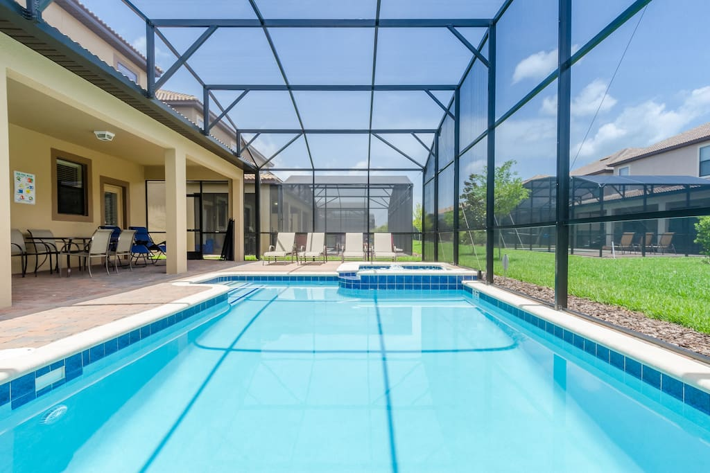 South Facing Private Swimming Pool for all day sunshine