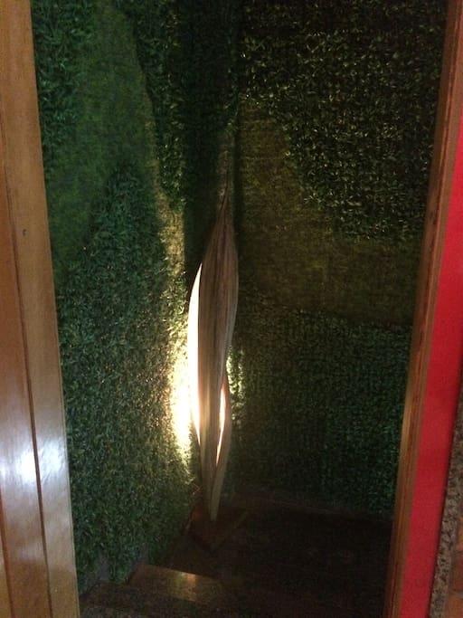 Topo da escada de acesso ao loft