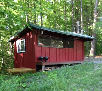 Deluxe Rustic Cabin in Forest Setting - Freeville