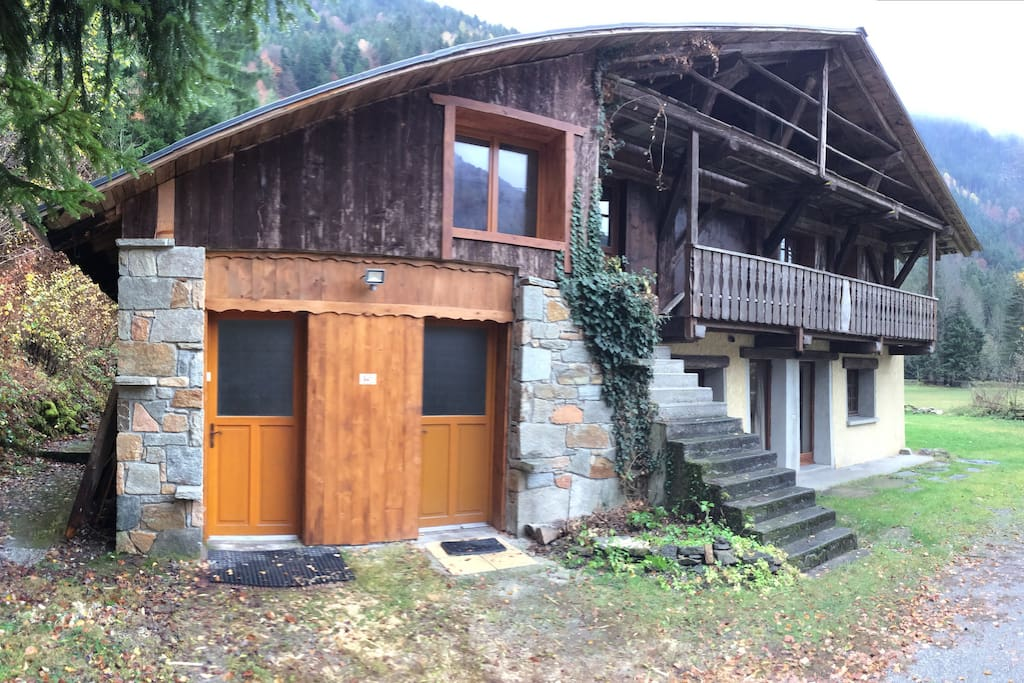 The apartment is part of a individual chalet. The Apartment is entirely self contained from the main chalet. Just the parking area is shared. The exterior of the chalet is traditionally Savoyard. Ample parking in front of the property which is not overlook