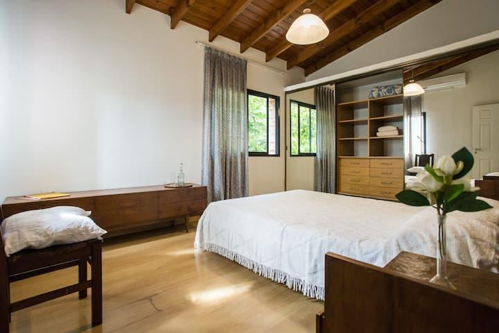 Stunning queen bedroom in quiet urban oasis