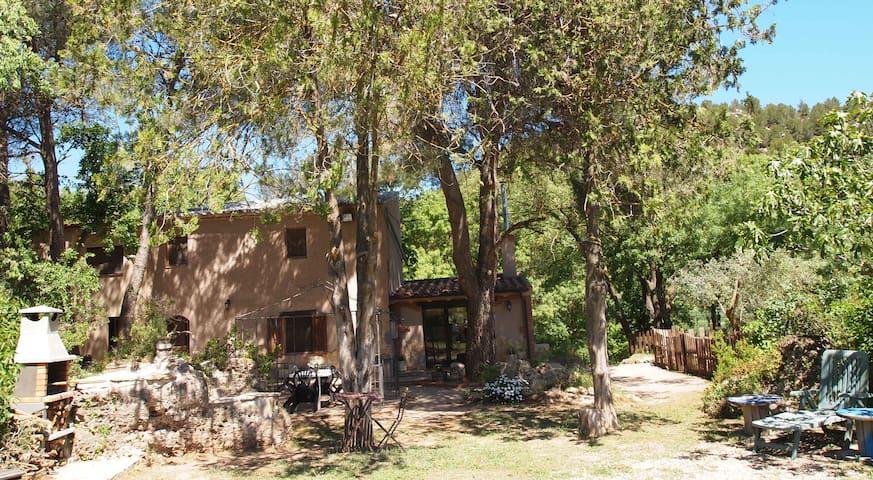 MASET D'ELALVA.Casa y jardín en plena naturaleza
