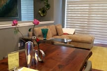 Dinning room with Pull out sofa