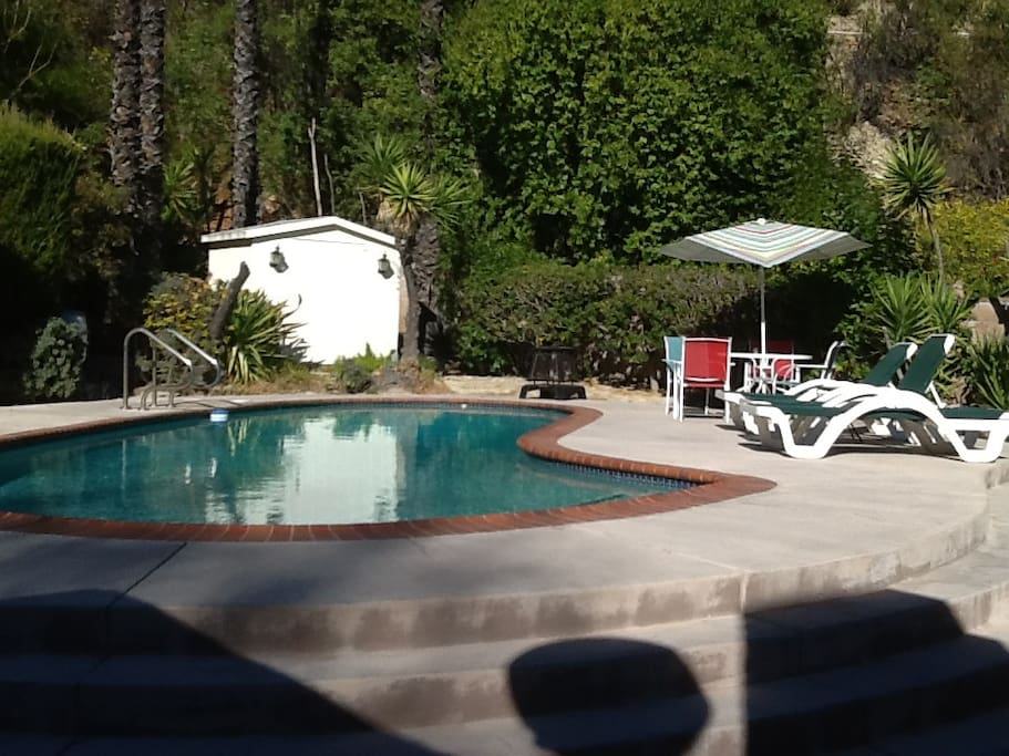 Back Pool area accessible to those for relaxing