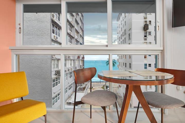 Superb Ocean View Studio - Condado Top location!