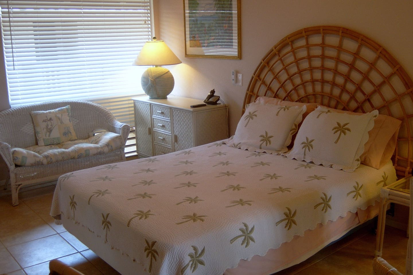 Bed, loveseat and dresser