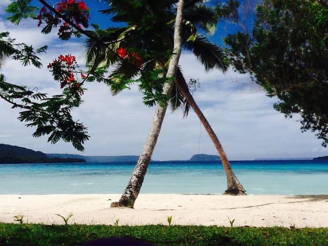 Absolute beach front bungalows - Hog Harbour  - Aamiaismajoitus