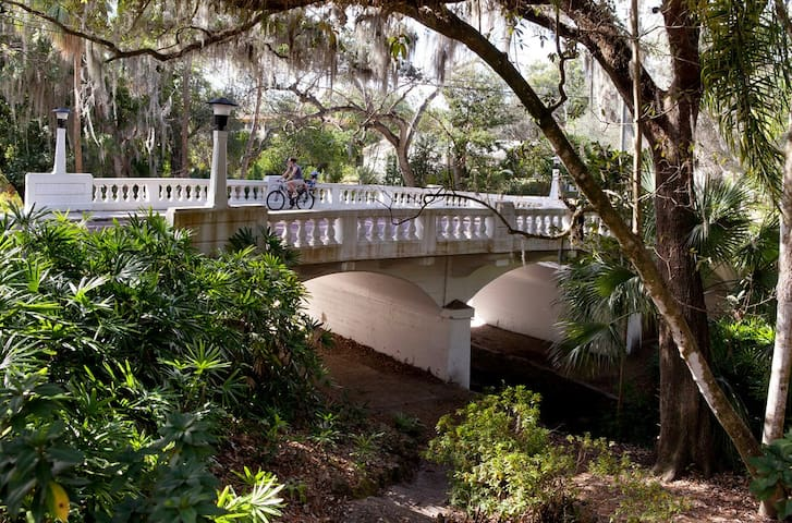 Enjoy nature? Take a 5 minute walk down the street and visit the Dickson Azalea Park that has sprawling oak trees and shaded walking paths.