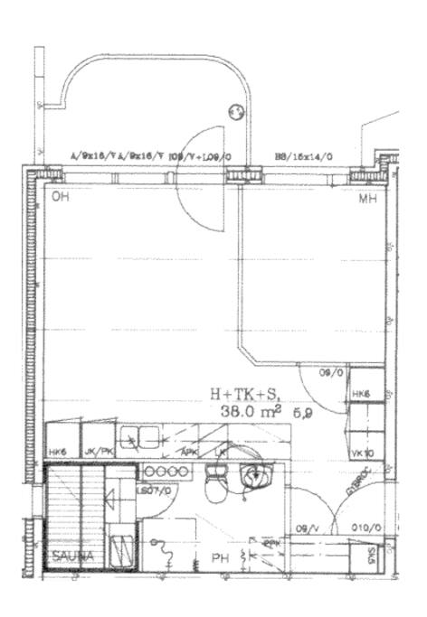The layout. Small bedroom is mine.