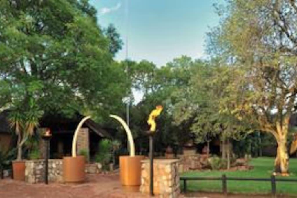 Entrance to Mabula Lodge