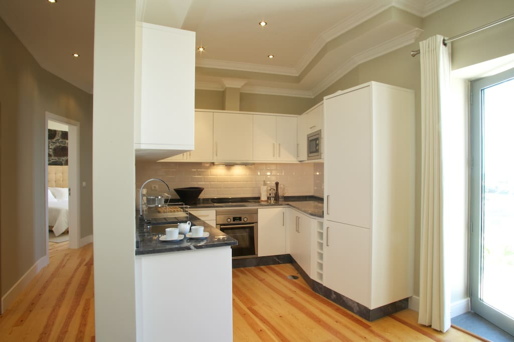 Modern spacious well equipped kitchen