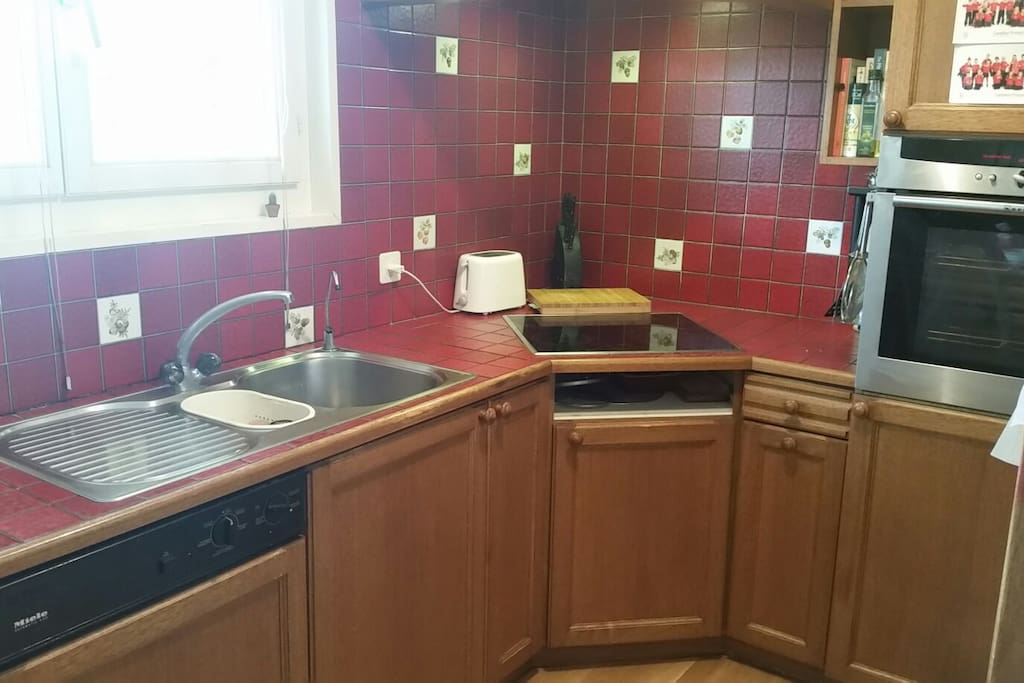 Well equipped kitchen with dishwasher, microwave,  fridge freezer and oven