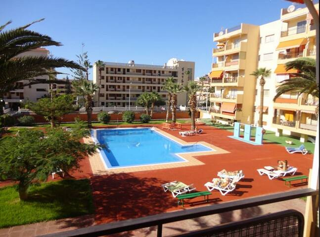 Los cristianos center poolview close to the ocean