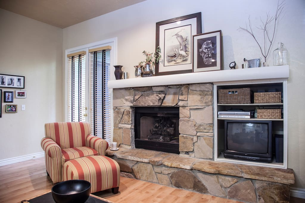 Read a Book Fireside in our Cozy Family Room. VHS/DVD player Available for your use.