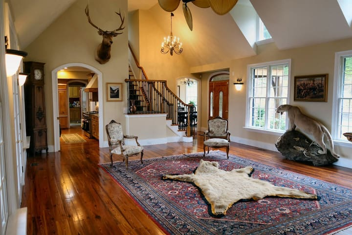 Large wonderfully-decorated rooms