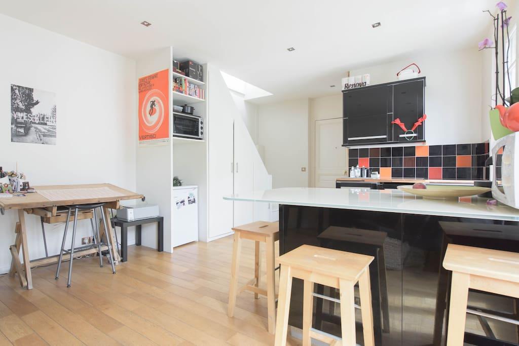 Joli duplex la campagne paris appartements louer - Interieur appartement original et ultra moderne a paris ...