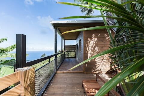 Charming bungalow , ocean view and tropical landscape