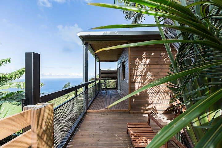 Charmant Bungalow , vue océan et paysage tropicale