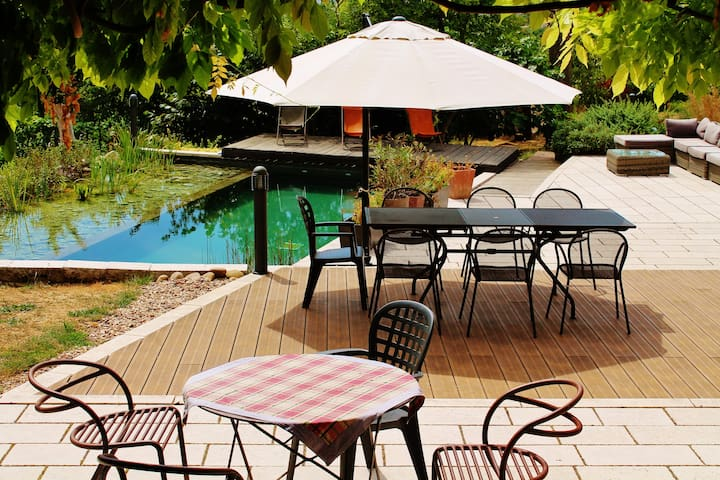 Salle de réception avec terrasse - Saint-Max - Huis
