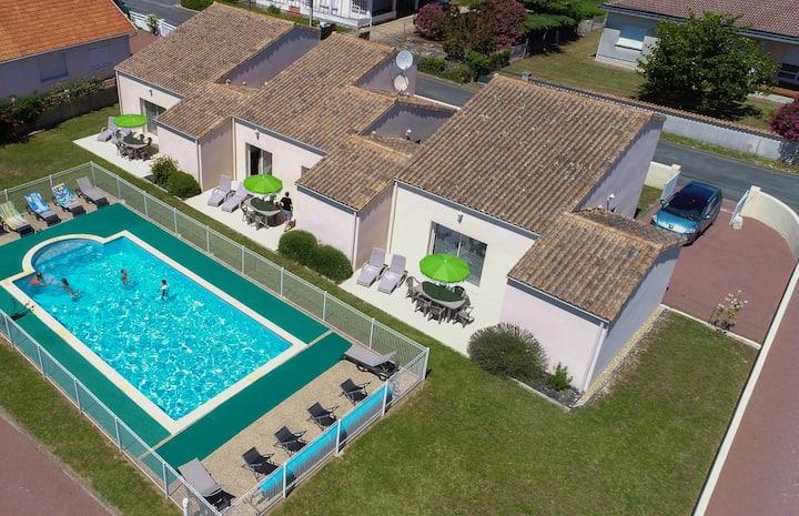 VILLA *** 4p avec piscine chauffée