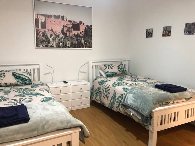 Two king single beds