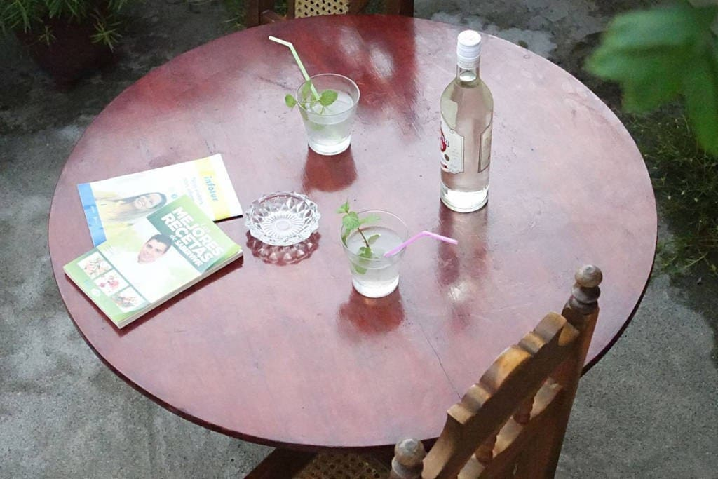 Enjoy a delicious mojito in the terrace with fresh mint from our garden.