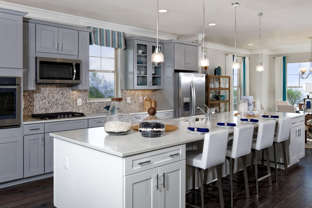 open concept kitchen  *model home view