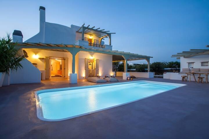 Luxury Myconian Villa-Elia Beach - Mykonos Egeo - Willa