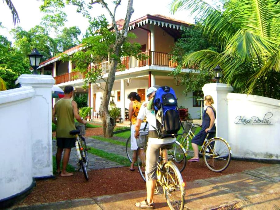 Free bike rental service for the in house guests