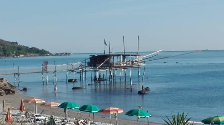 Costa dei trabocchi, mar adriatico. Meraviglioso